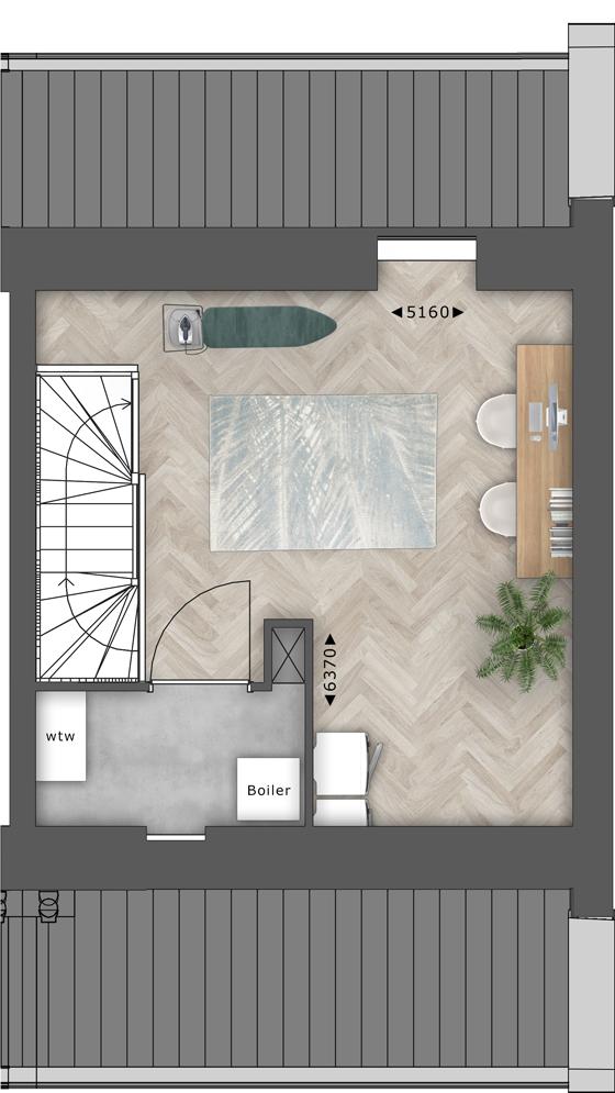 de Oude Dee Bouwnummer 4 - verdieping 2 plattegrond