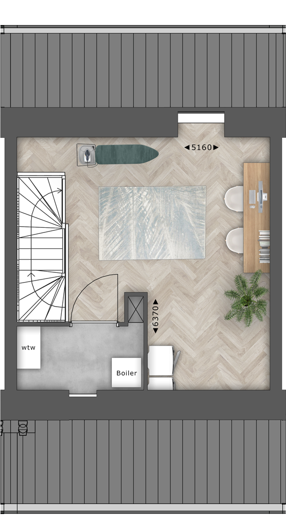 de Oude Dee Bouwnummer 12 - verdieping 2 plattegrond