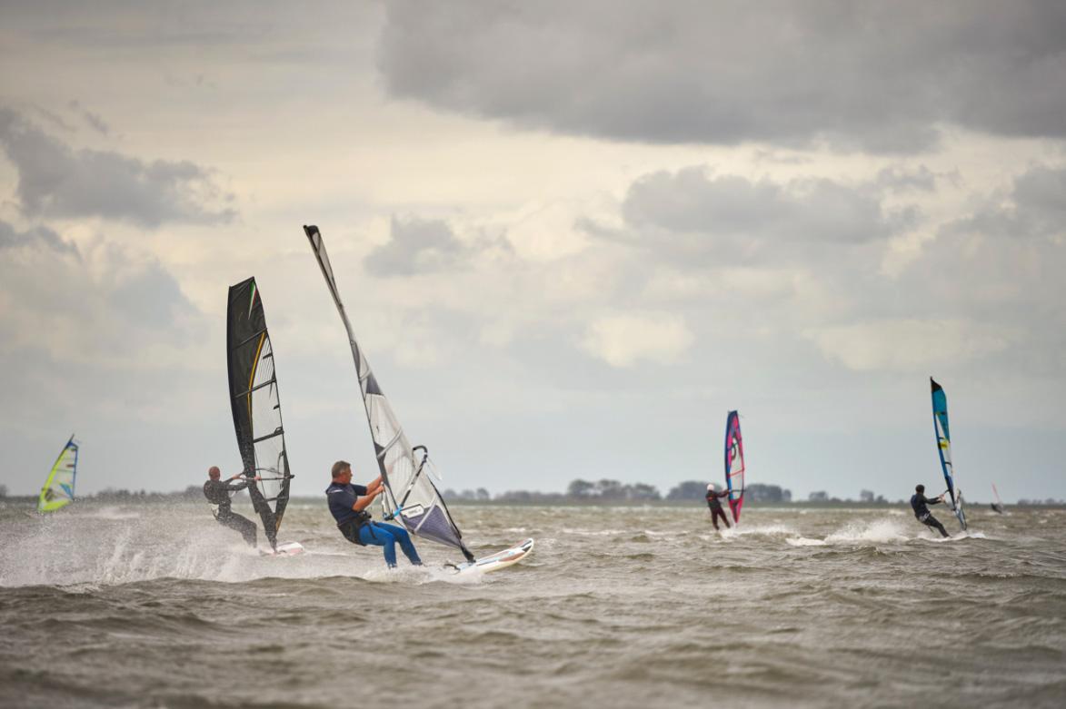 de Oude Dee - Grevelingenmeer met windsurfers
